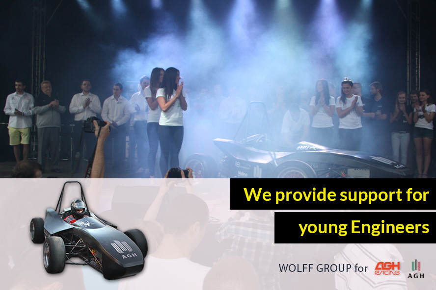 We provide support for young engineers