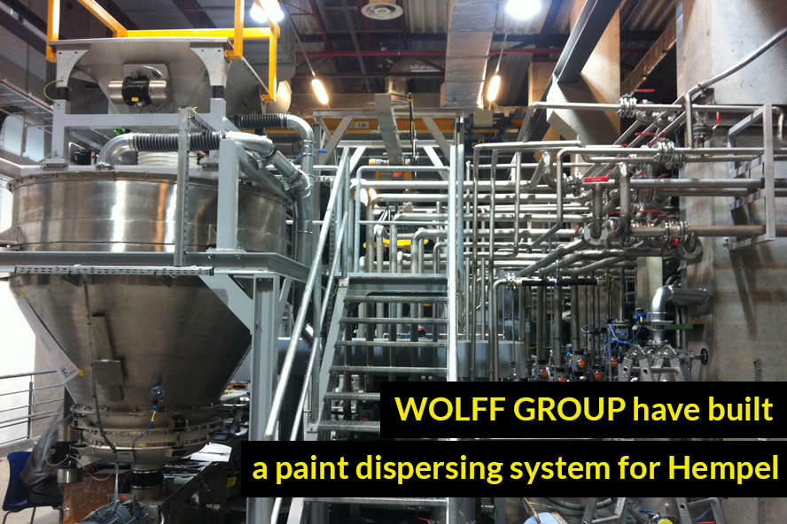 WOLFF GROUP have built a paint dispersing system for Hempel