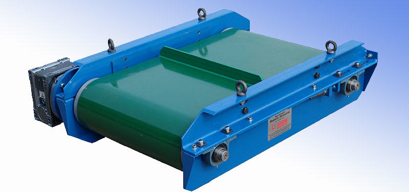 Magnetic separators for belt conveyors