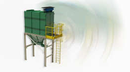 Dust removal system for non-explosive ceramic powders