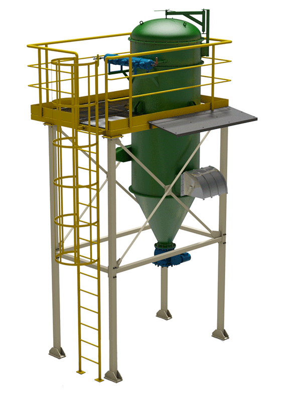 Central vacuum system dust collector