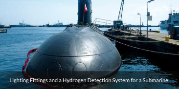Lighting Fittings and a Hydrogen Detection System for a Submarine