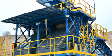 One of the largest supplies for the lime industry – screen with the capacity of 200 t/h