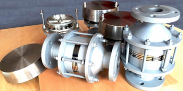 Supply of flame arresters to a modernised hydrogen cylinders discharge station