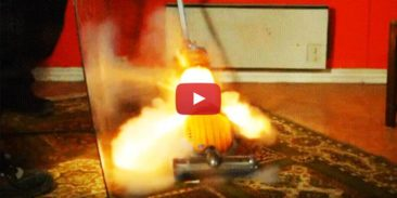 explosion in a vacuum cleaner