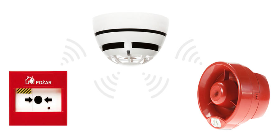 wireless fire detector