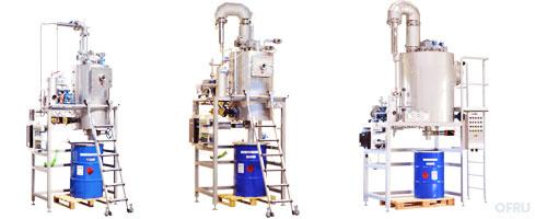 Industrial vacuum distillers