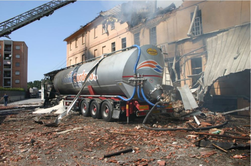 Tanker after the explosion