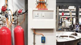Gaseous fire suppression of a sealing machine in selected CO2