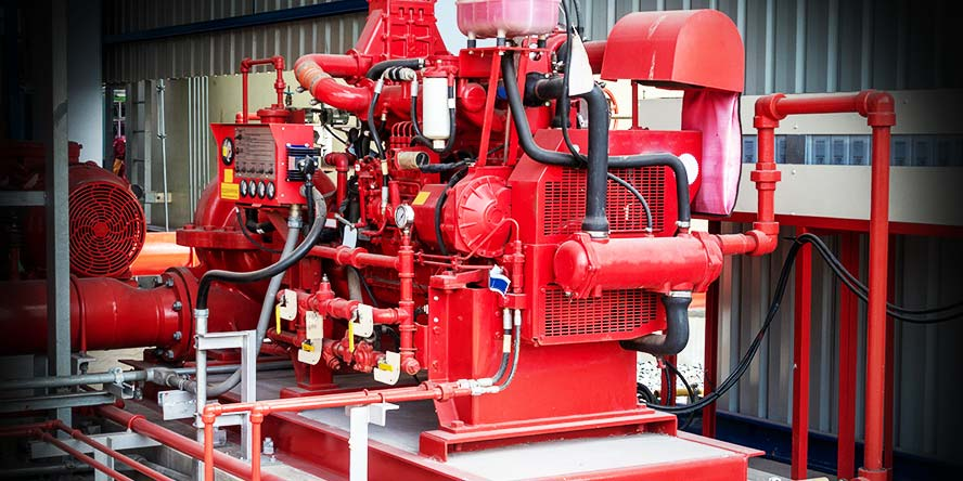 Diesel pump for a fire extinguishing system