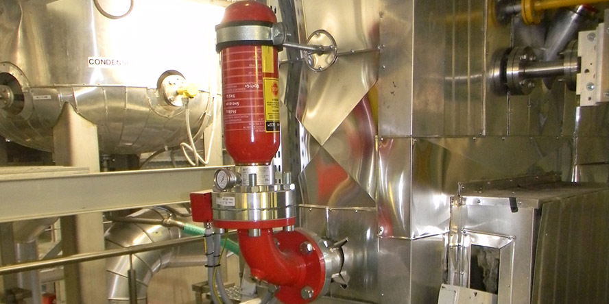 protect a wastewater treatment plant against a dust explosion