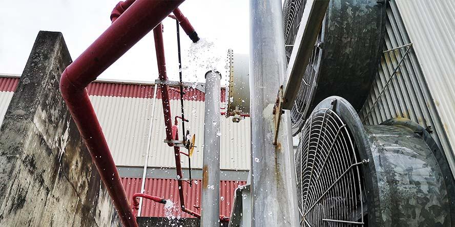 Instalacja gaszenia transformatorów - przykład